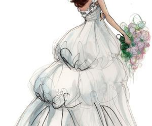 Drawn bride cute smile Wedding art wedding 35 on