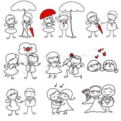 Drawn love Hand character love card cute