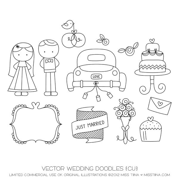 Drawn bride doodle Wedding Doodle Doodle on Pinterest