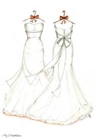 Drawn wedding dress back dress 6 Wedding Dreamlines Sketch Gallery