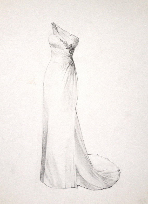 Drawn bride dress The Drawing a Dress or