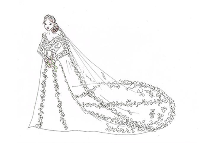 Drawn bride dress I'm one non The Order
