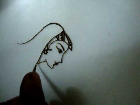 Drawn mehndi abstract  Dulhan(Bride) How with with