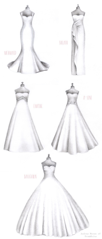 Drawn wedding dress dress style #1