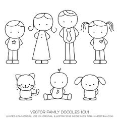 Drawn vector Card hold Family veil love
