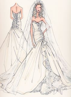 Drawn wedding dress dress style  dresses Search dresses illustrations