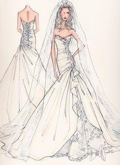 Drawn wedding dress dress style #4