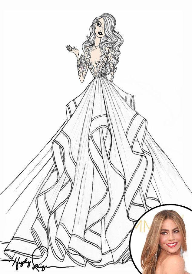 Drawn wedding dress really #8