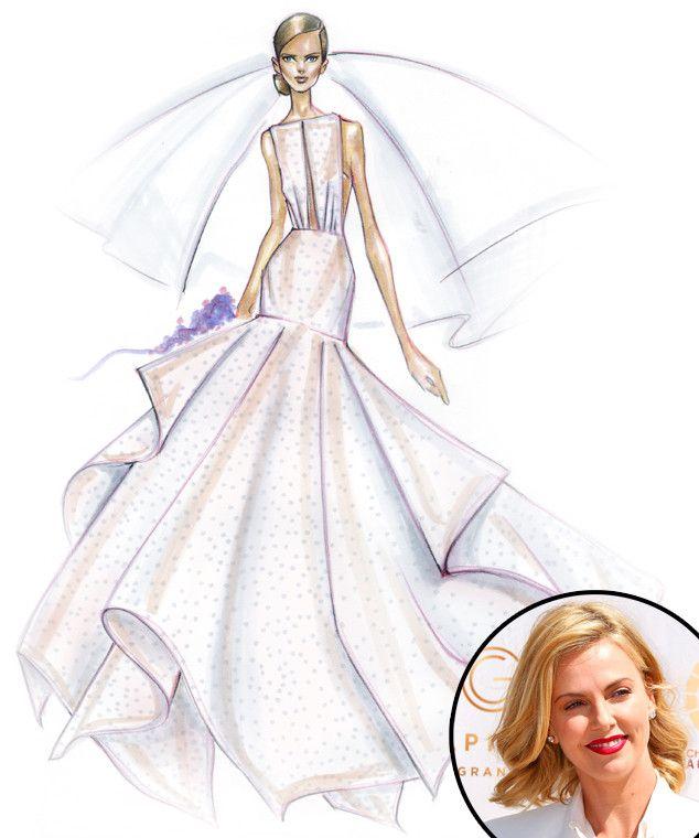 Drawn wedding dress fancy dress Sofia Sketches Gaga Designer SKETCHES
