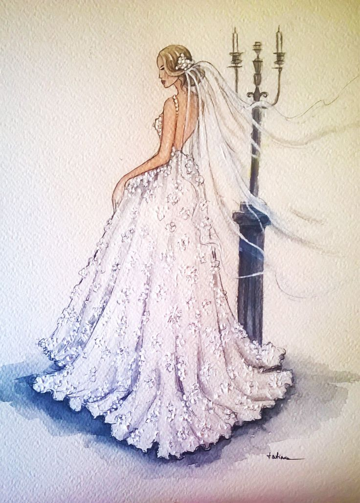Drawn bride marriage Bridal The drawing best Pinterest