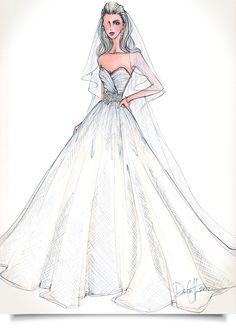 Drawn wedding dress dress style #14