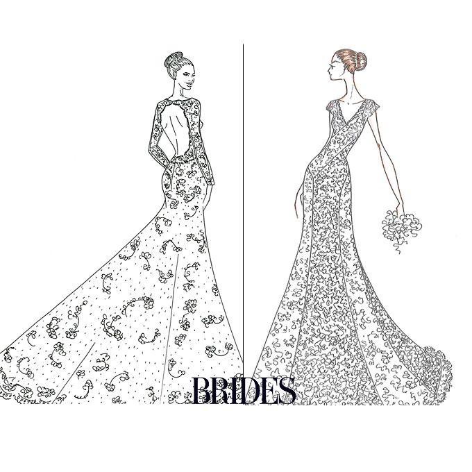 Drawn bride prom dress The Jennifer Aniston vs Angelina