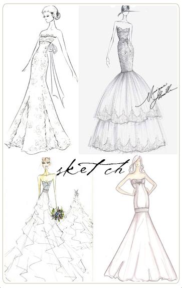Drawn bride prom dress :) fashion sketches wedding :)