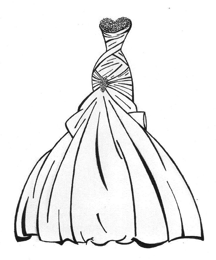 Drawn bride prom dress Wedding by Lauren Sketches Pinterest