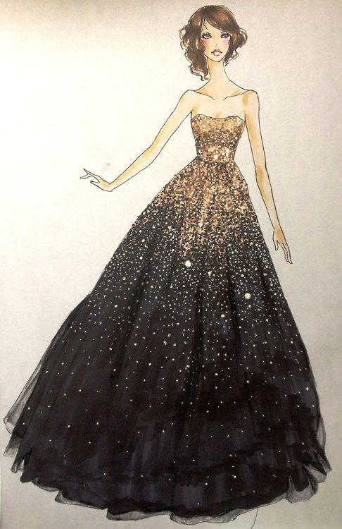 Drawn bride prom dress On Pinterest ideas Dress 25+