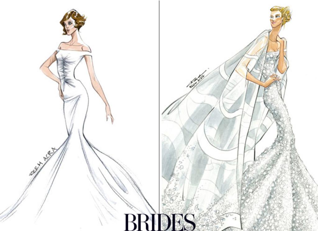 Drawn bride prom dress And Angelina: Jennifer Sketches Dress