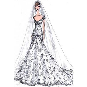 Drawn bride royal dress Dresses Kate of Wedding Wedding
