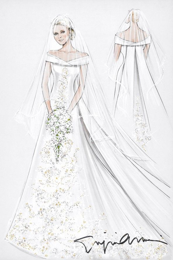 Drawn bride royal dress Sketch Wedding best dress wedding