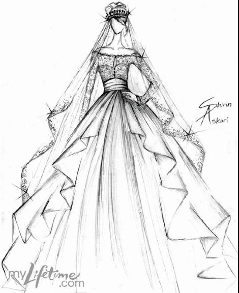 Drawn wedding dress unique Royal Week!! Wedding win/win gown