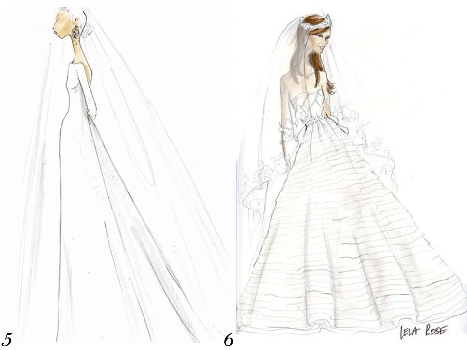 Drawn bride royal dress Lela sketch Rose wedding royal