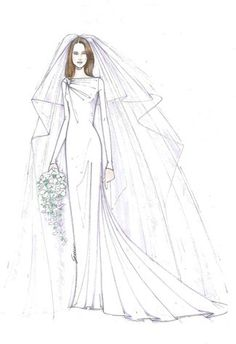 Drawn bride royal dress And Gabrielle Dress Designers Pinboard