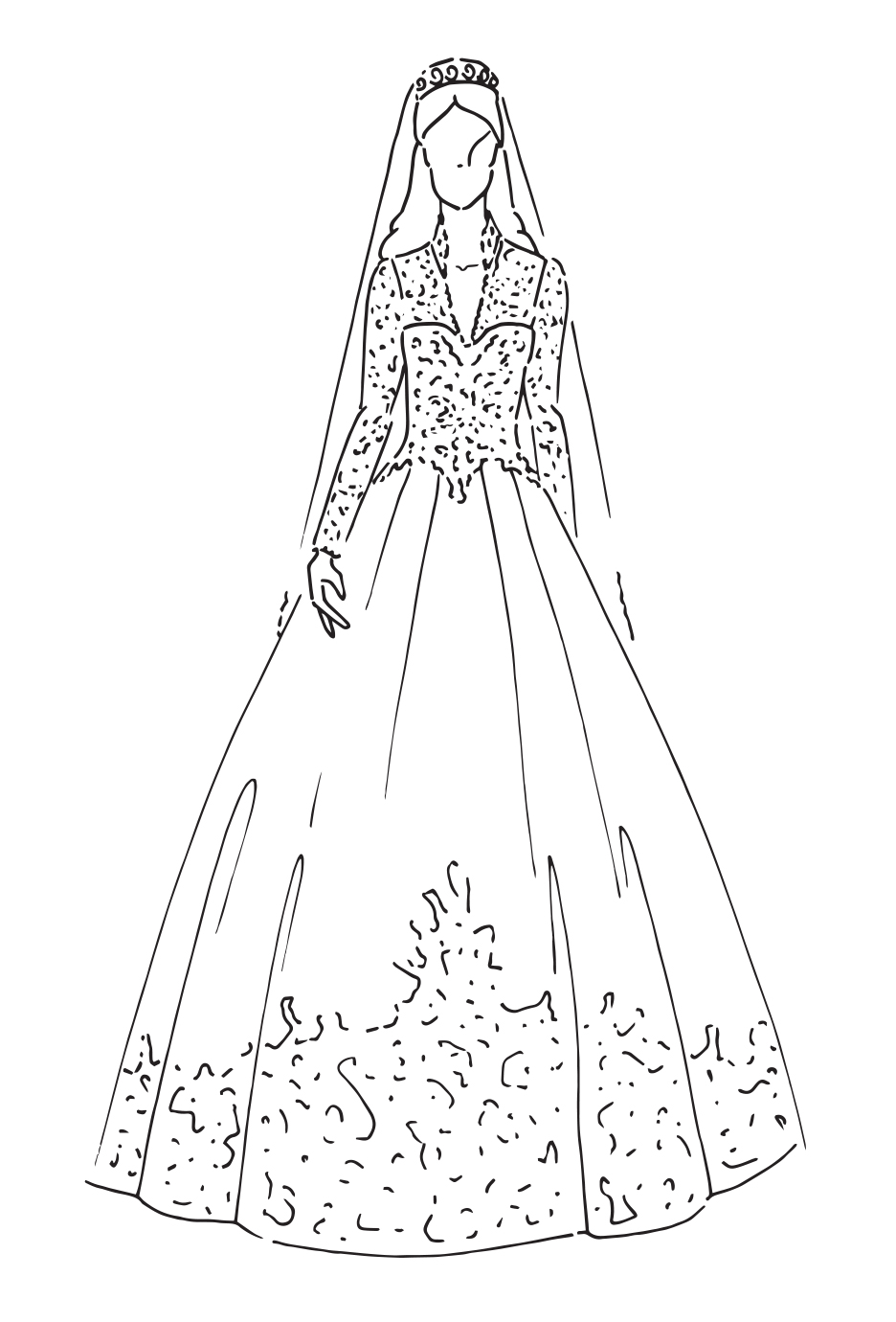 Drawn bride royal dress Most CO ZALANDO Wedding Iconic