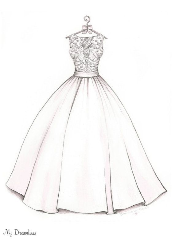 Drawn costume frock Ideas Dress maid bride Pinterest