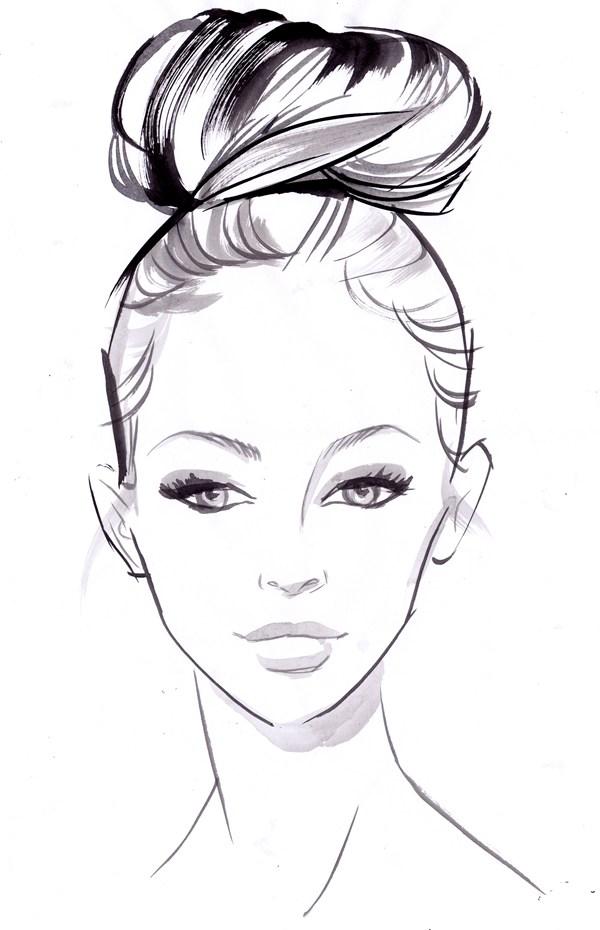 Drawn ballerine face Hairstyles peek: Bridal Bridal how