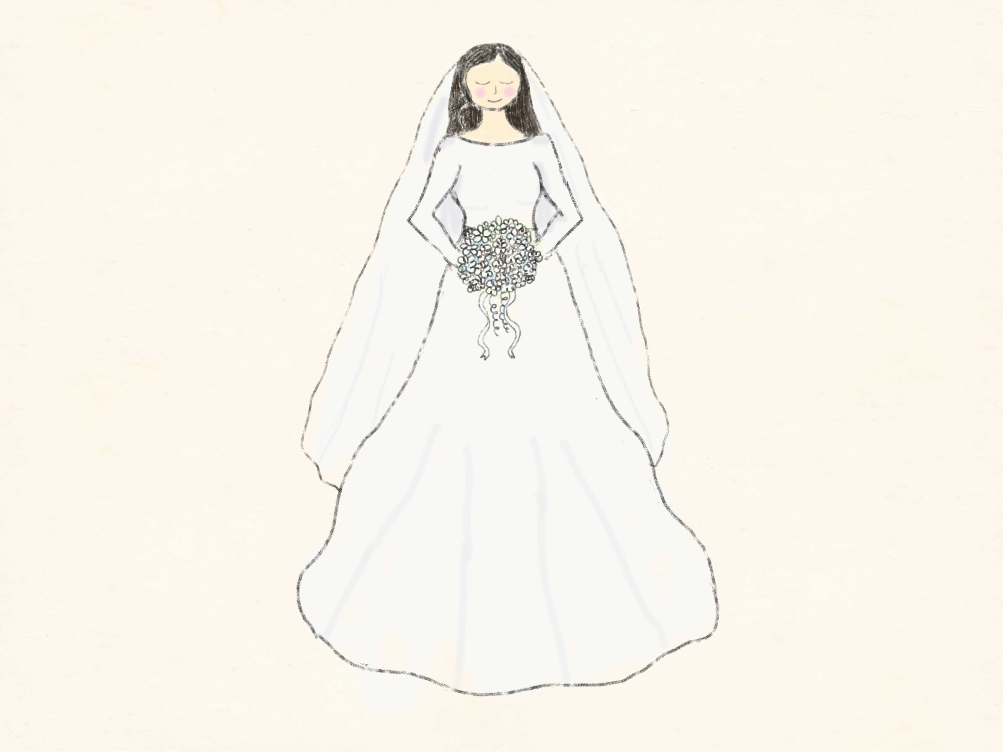 Drawn bride strapless dress 10 How  a Steps