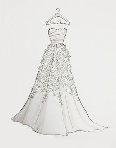 Drawn bride strapless dress Blue light Wedding Custom light