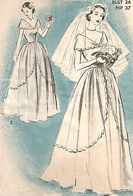 Drawn wedding dress vintage dress PATTERN VINTAGE Pinterest pattern wedding