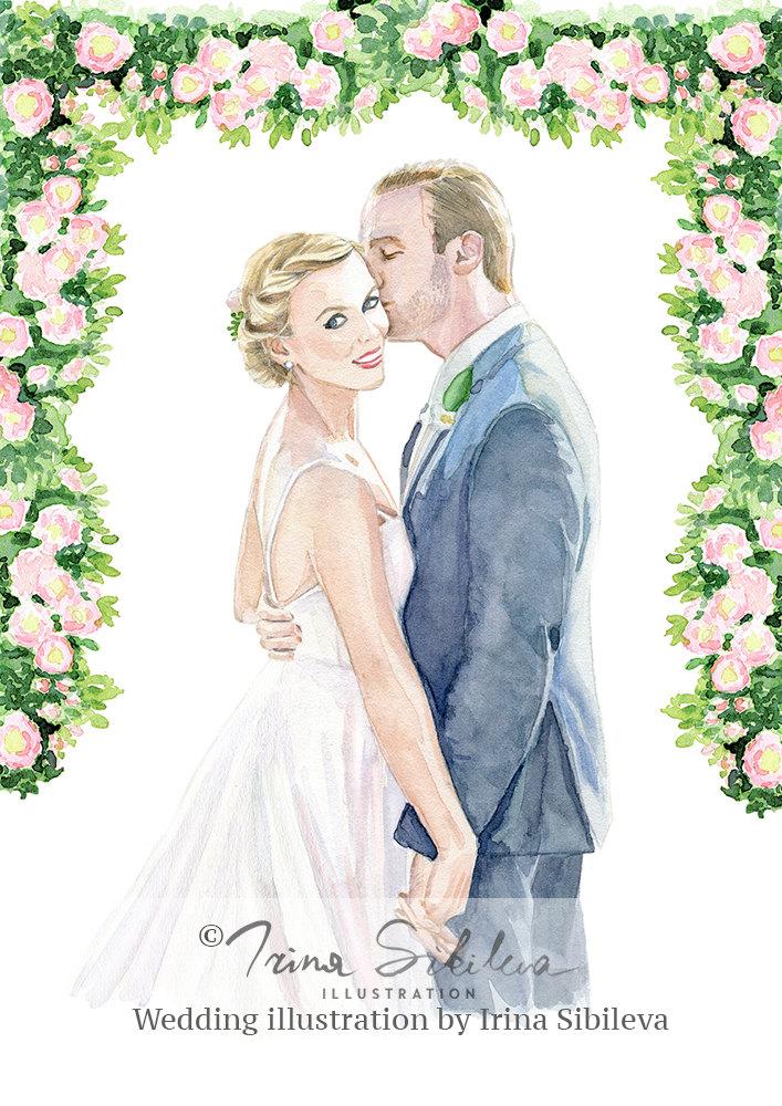 Drawn bride wedding anniversary Portrait Portrait for Paper Portrait