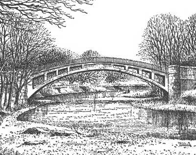 Drawn bridge Shropshire drawing pen Stanford Shropshire