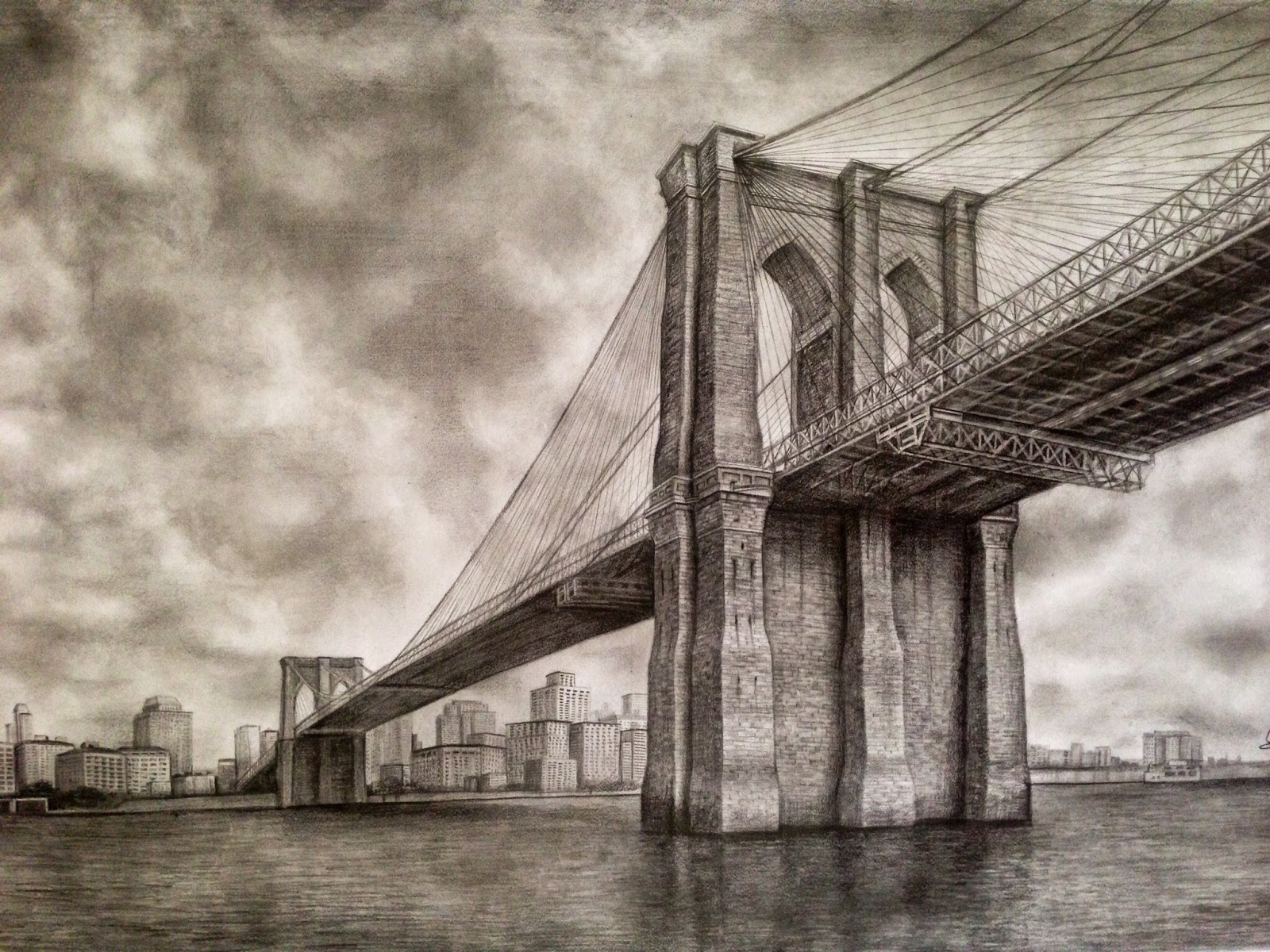 Drawn bridge Of Architect: an Brooklyn Bridge