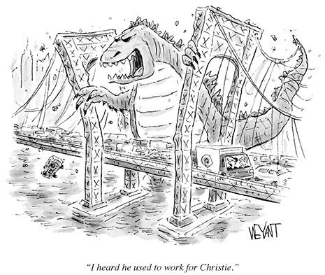 Drawn bridge cartoon Mock New below:  Yorker
