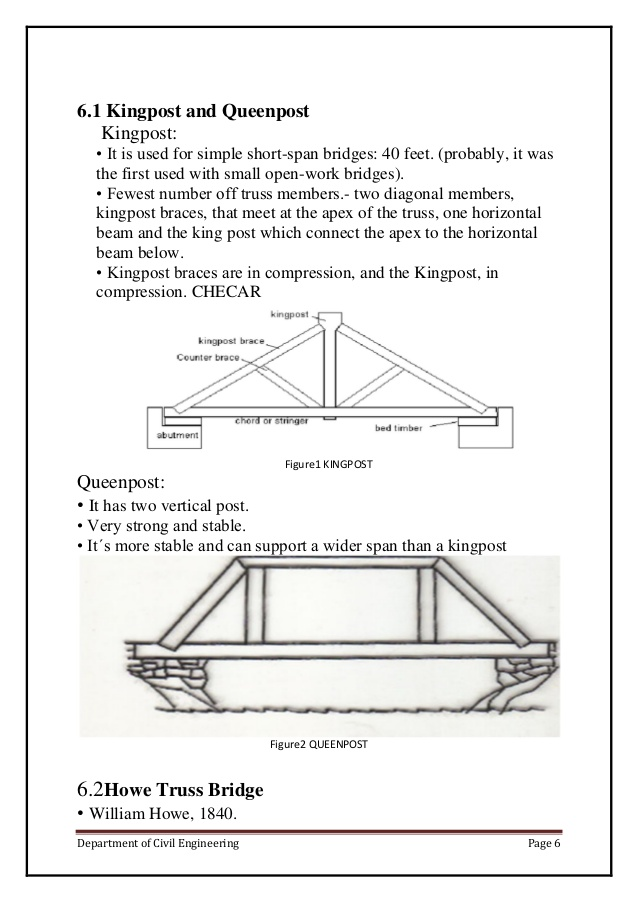 Drawn bridge civil engineering Truss report on of Department