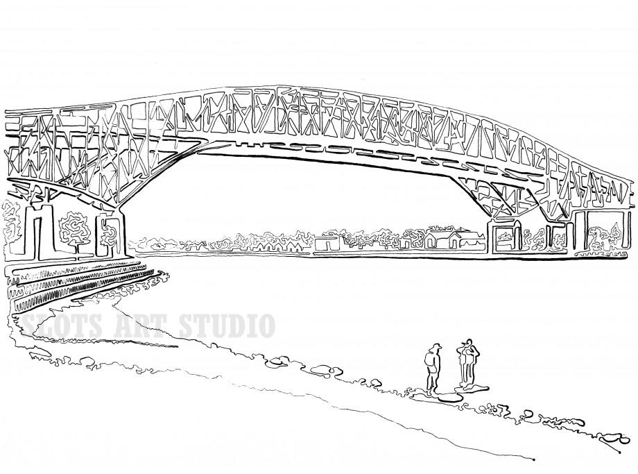 Drawn bridge color Search  Google bridges line