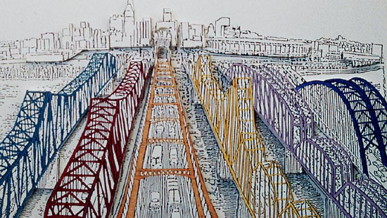 Drawn bridge color Isn't colors bridge Debate new