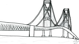 Bridge clipart coloring Coloring Corner Page Mackinac Bridge