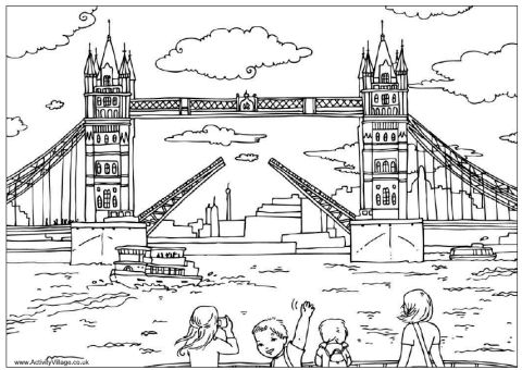 Bridge clipart coloring London bridge Tower colouring colouring