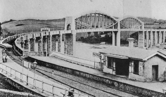 Drawn bridge isambard kingdom brunel Saltash c Bridge 1859