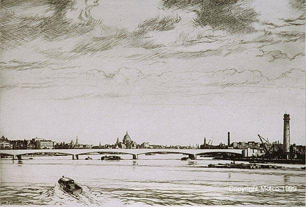Drawn bridge london waterloo WHERE Leonard THAMES WATERS Walker's