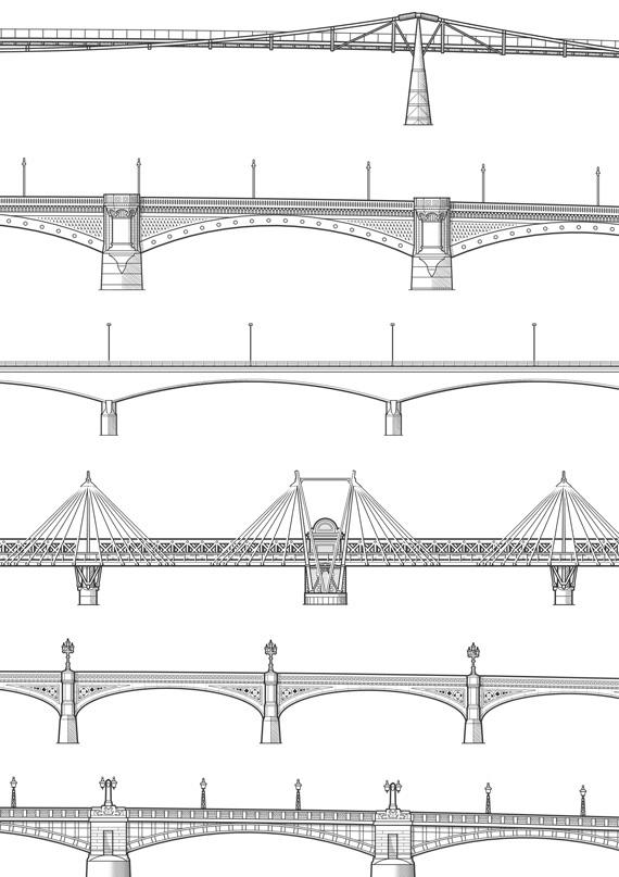 Drawn bridge london waterloo And Bridge Blackfriars of Millennium