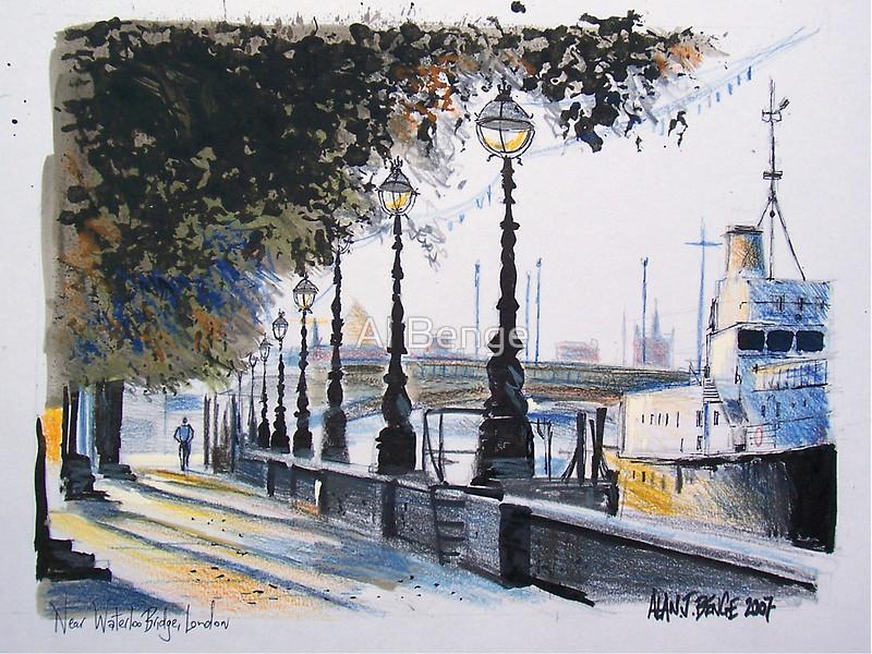 Drawn bridge london waterloo Waterloo on on drawing Waterloo
