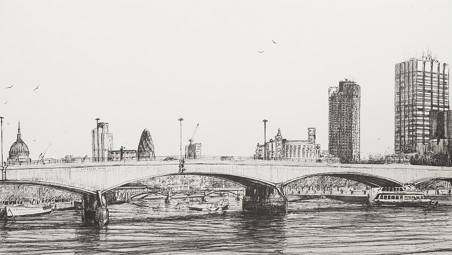 Drawn bridge london waterloo By Alexander Bridge Bridge Drawing