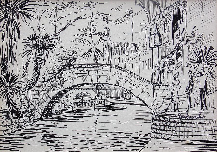Drawn bridge river bridge San Antonio San Joseph Bill