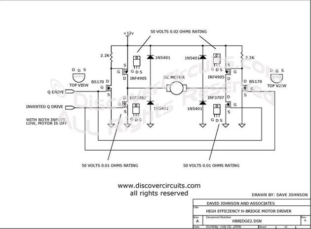 Drawn bridge schematic Circuit E David Johnson Circuit