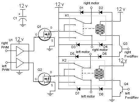 Drawn bridge schematic Schematic Matrix RobotShop Robots! Make