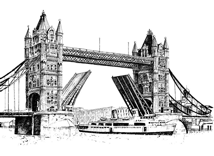 Drawn bridge Sketch Images Drawing London Sketch