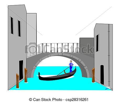 Bridge clipart water clipart Bridge over Stock Illustration with